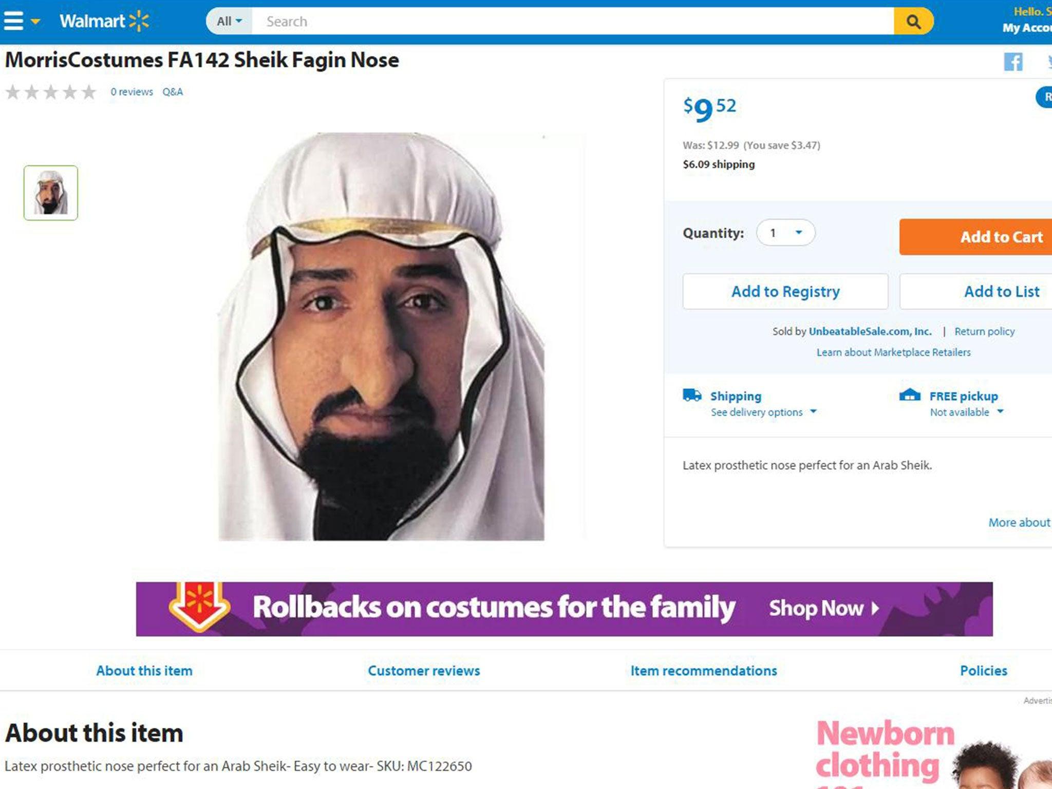 u201cLatex ...  sc 1 st  The Independent & Walmart Israeli soldier Halloween costume for children sparks ...