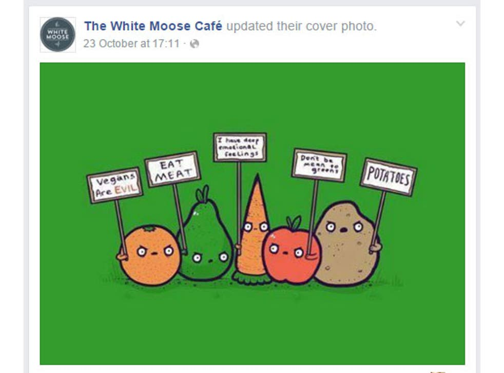 The cafe has been actively winding up the vegan community