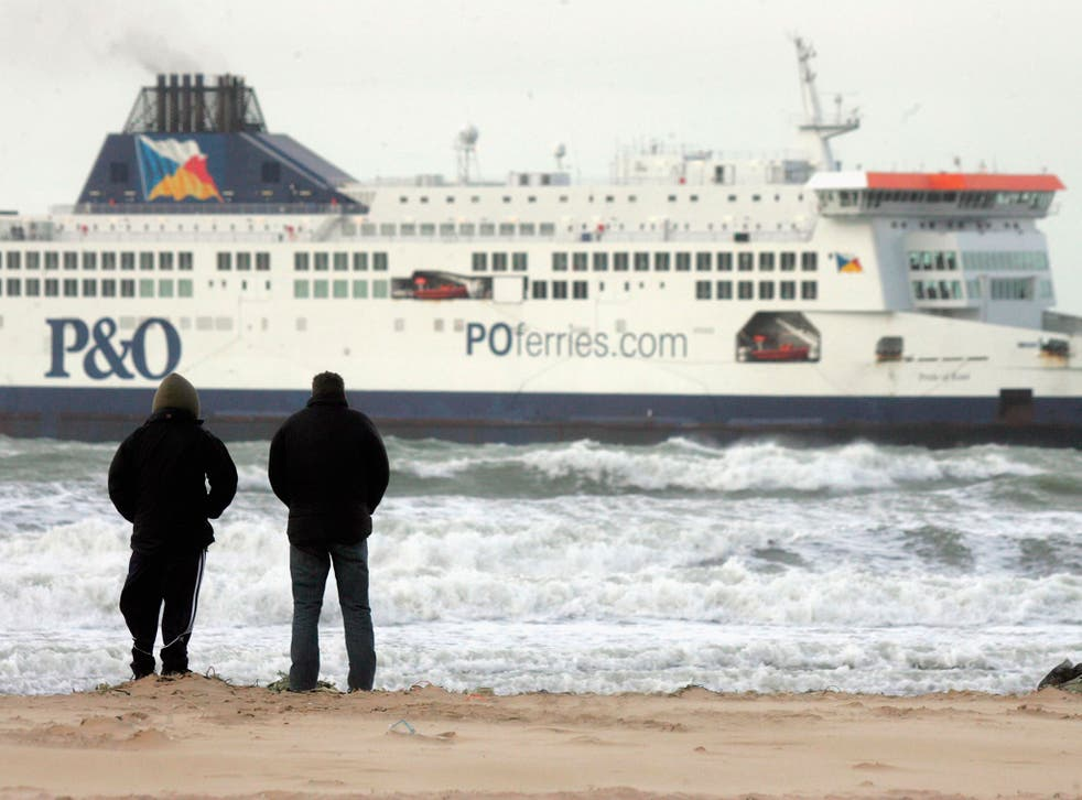 The two men (not pictured) attempted to swim across the Channel from Calais
