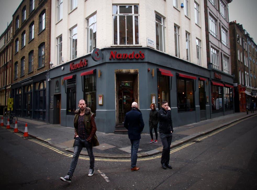 A branch of Nando's in Soho, London