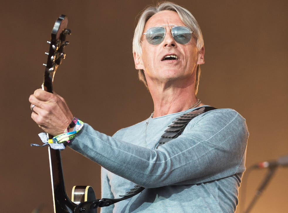 British rock icon Paul Weller performing at Glastonbury earlier this year