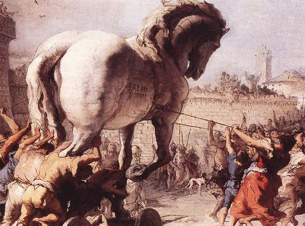 'The Procession of the Trojan Horse into Troy', c1760, from the National Gallery
