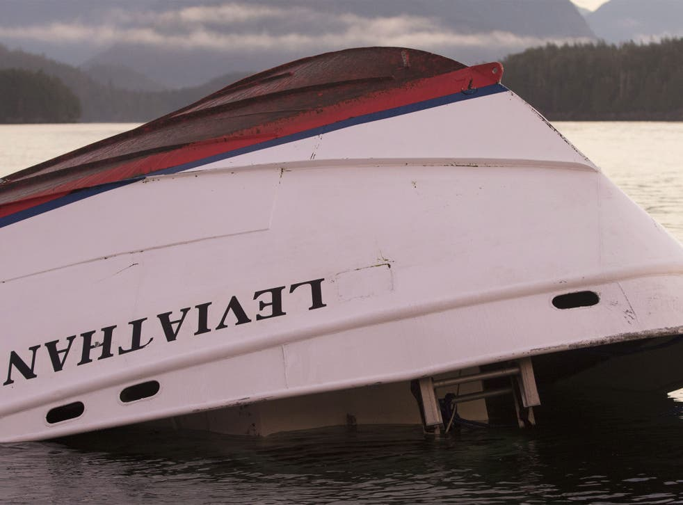 Leviathan got in to difficulty about eight miles from the small town of Tofino