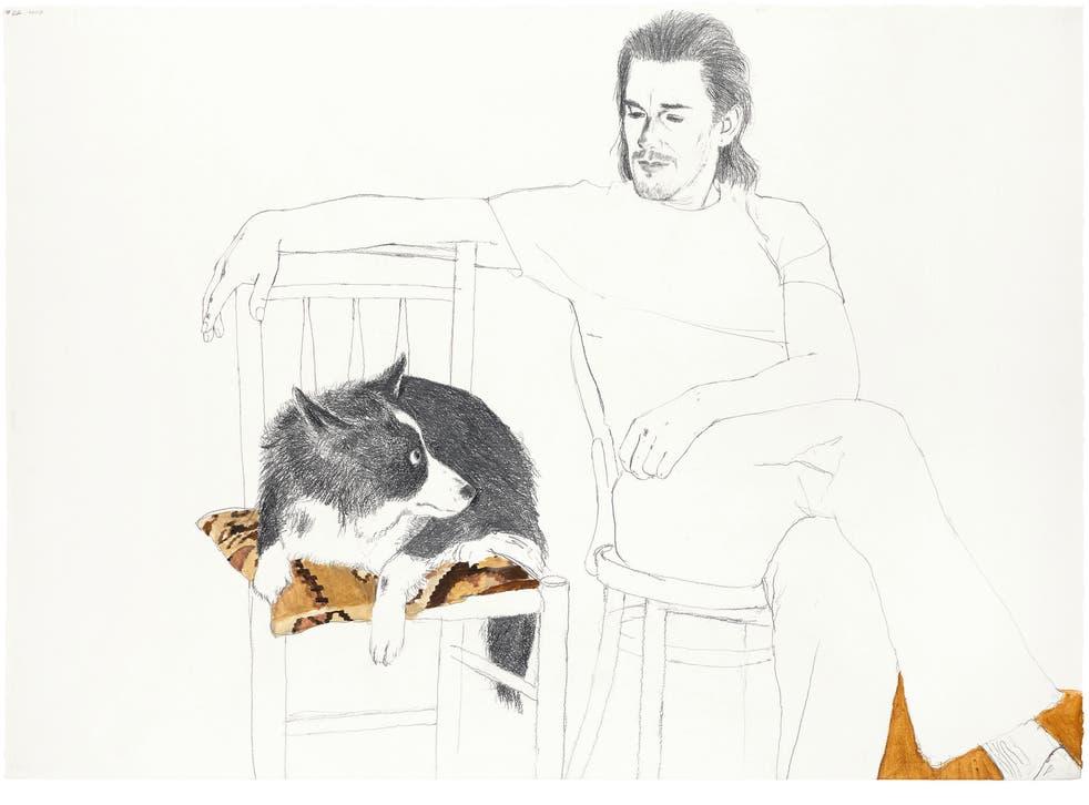 Ethan Hawke and Nina, 2007 by David Remfry
