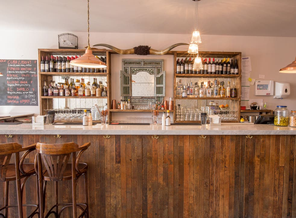 The Little Taperia is dominated by a long marble-topped bar, which is lovely, but deceptive