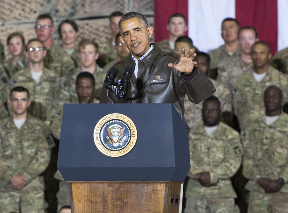 President Obama during a surprise visit to US in Afghanistan last year