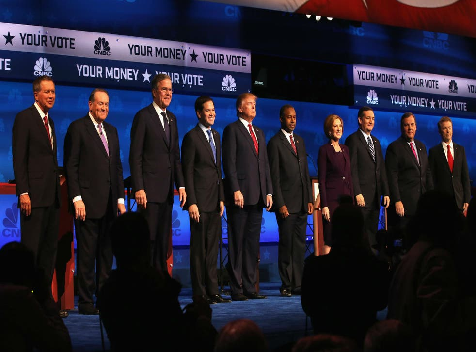 Ten Republican hopefuls took to the stage