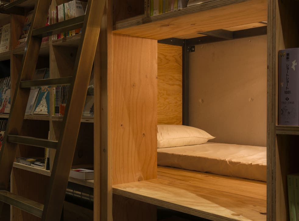 Sleep behind copies of your favourite books for the ultimate bookworm experience