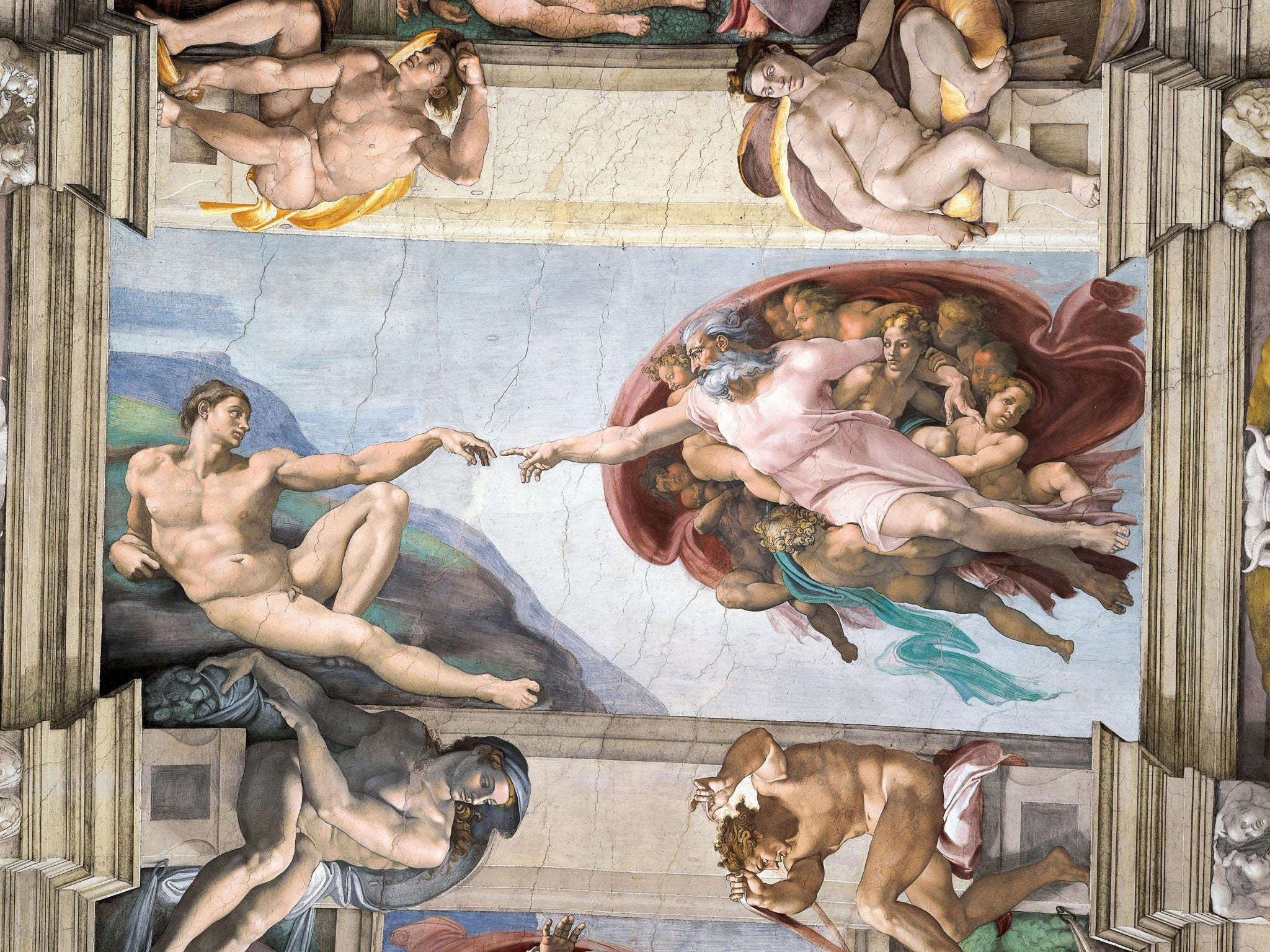 Michelangelo hid female anatomy symbols in Sistine Chapel ceiling painting, researchers claim