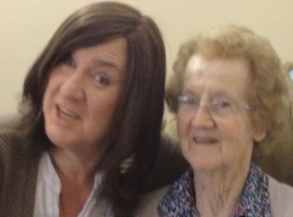 Tina Healy and her mother