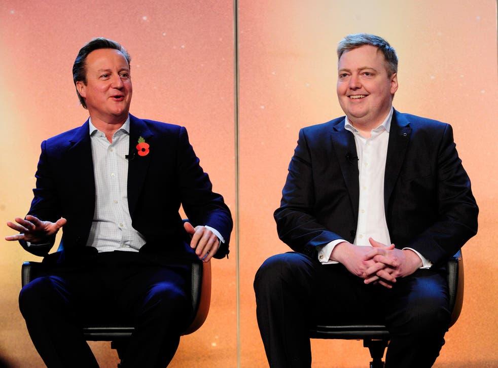David Cameron and his Icelandic counterpart, Sigmundur David Gunnlaugsson, at the Northern Future Forum