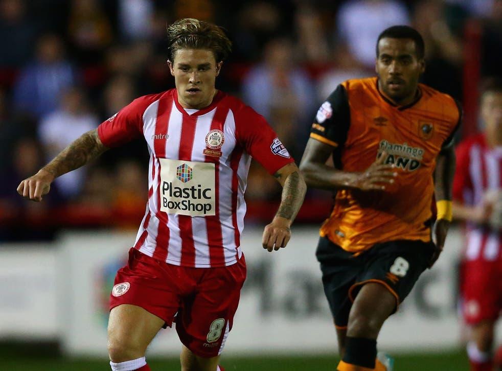 Josh Windass, left, has scored seven goals for Accrington this season