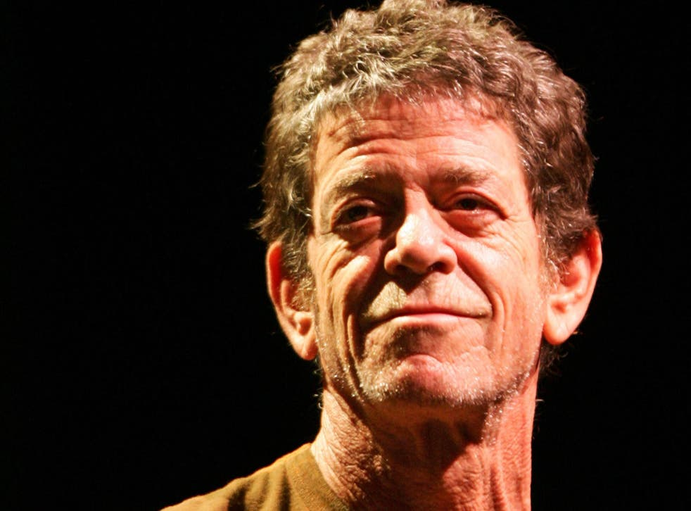 Siinger Lou Reed performs on stage at Berlin's Tempodrom  2007