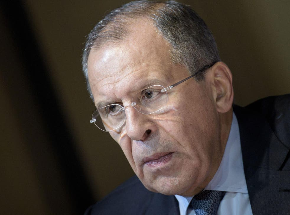 Russian Foreign Minister Sergei Lavrov in Vienna