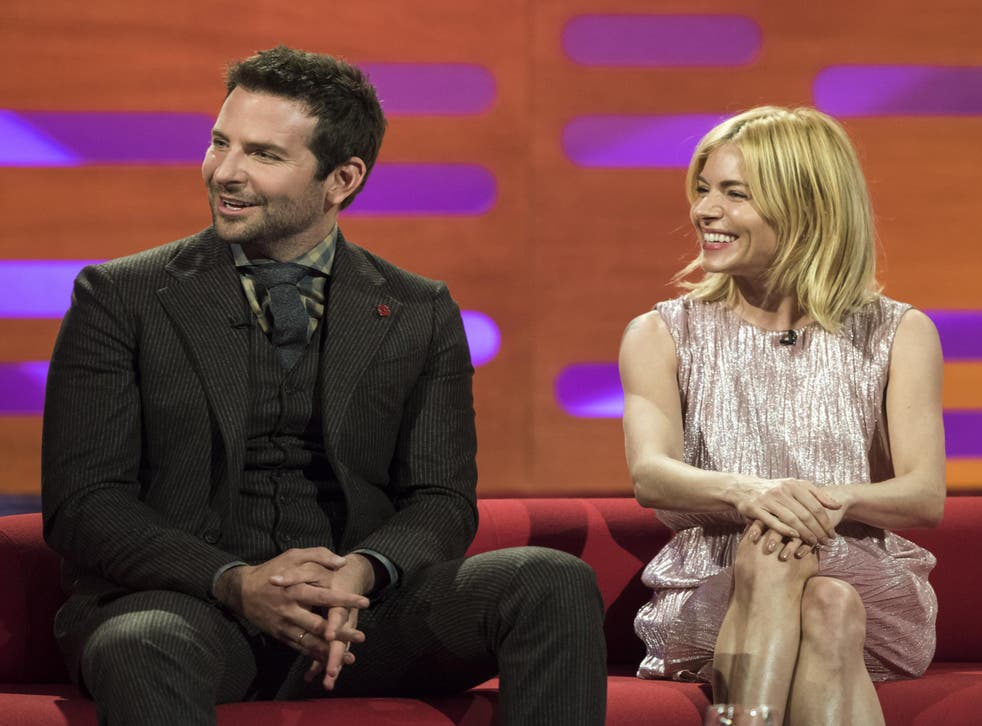 Ms Miller was on the show with Bradley Cooper to promote her new film, Burnt