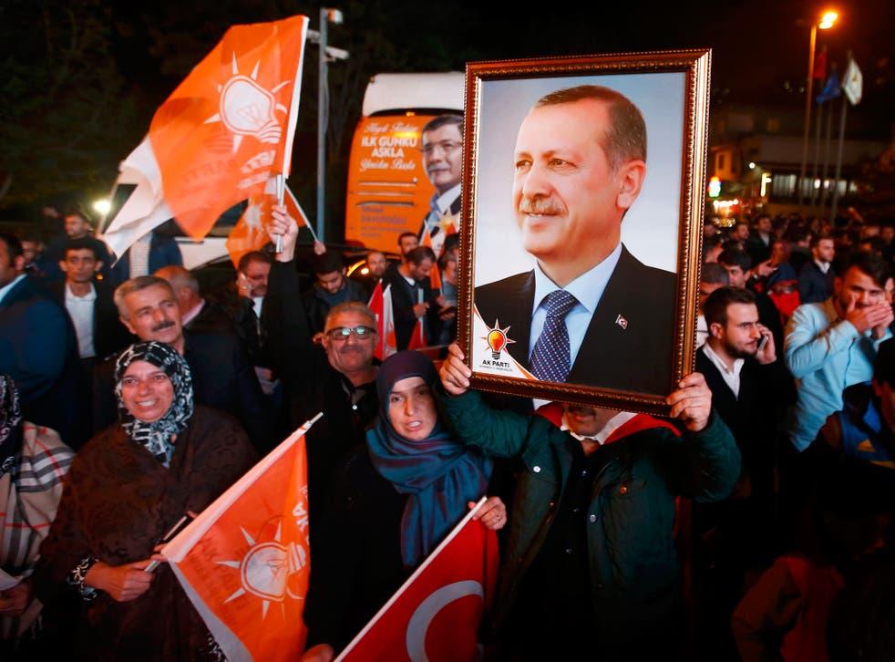 A portrait of the President Recep Tayyip Erdogan