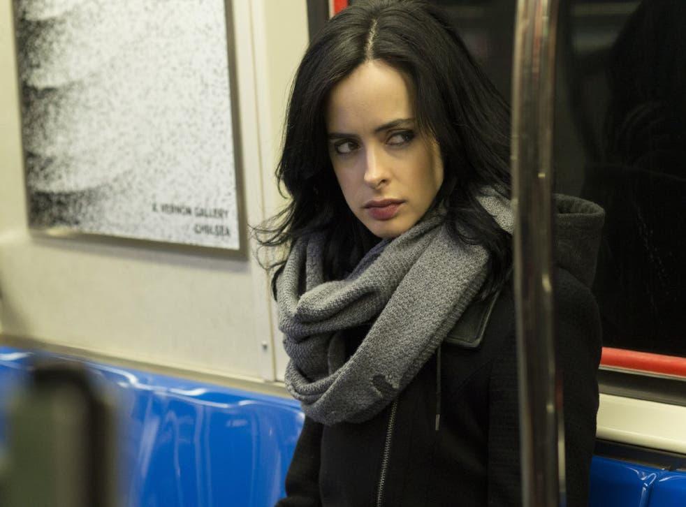 Krysten Ritter as Jessica Jones in Marvel's new Netflix superhero series