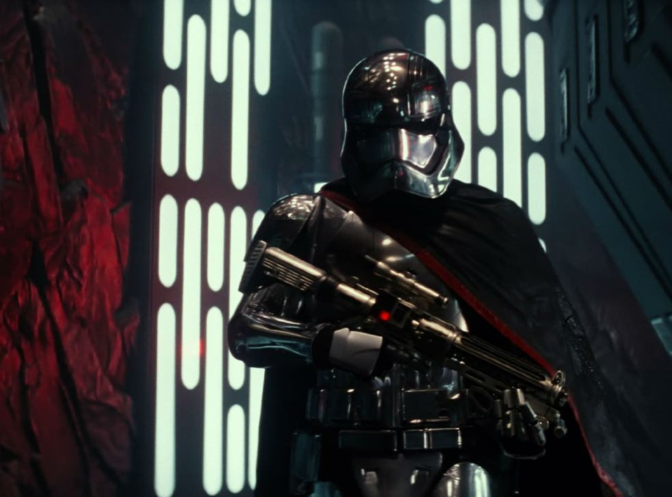 Gwendoline Christie as Captain Phasma in Star Wars: The Force Awakens