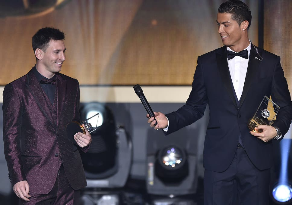 Image result for cristiano ronaldo with messi