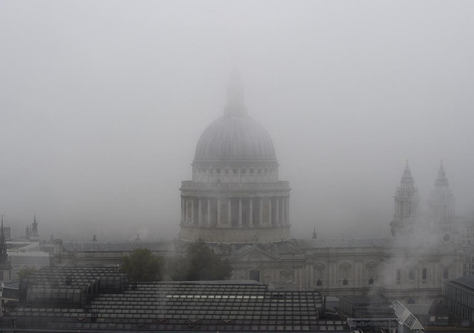 Uk weather what is fog and why is the uk so foggy right now the fog shrouds st pauls cathedral in central london solutioingenieria Choice Image