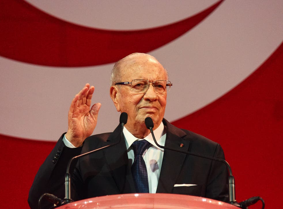 President Beji Caid Essebsi is facing an uprising from liberal elements of his own party