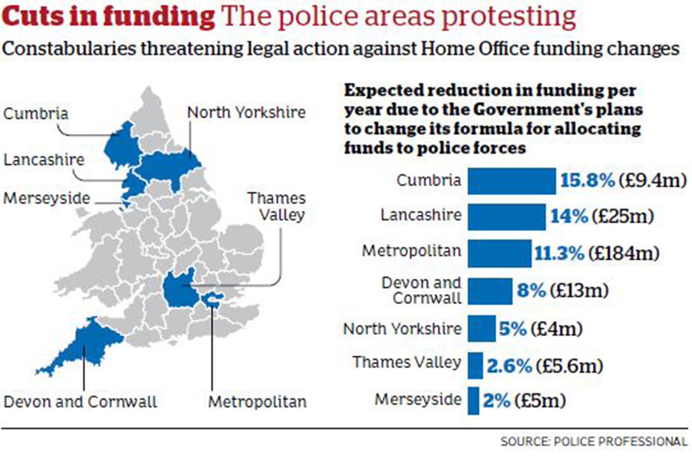 Police cuts: Commissioners threaten to sue Government over ...