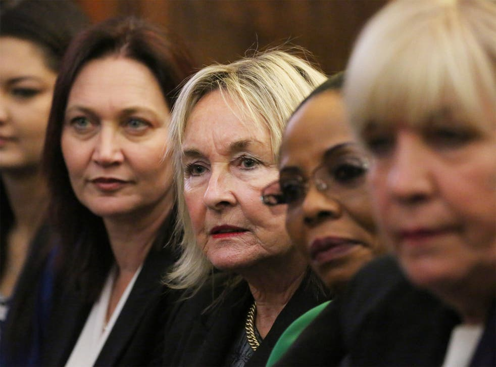 June Steekamp (centre), Reeva's mother, at the Supreme Court of Appeal