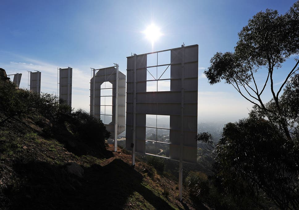 trademark law stops people filming hollywood sign the independent