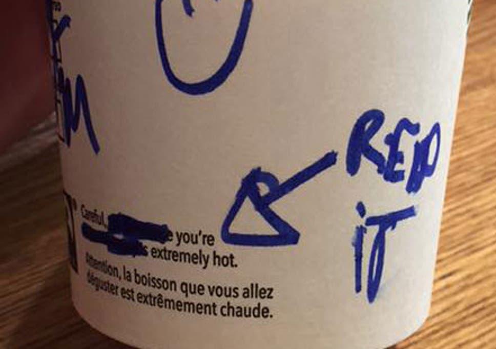 12b8ea0b694 Starbucks barista 'writes creepy message on coffee cup' | The ...