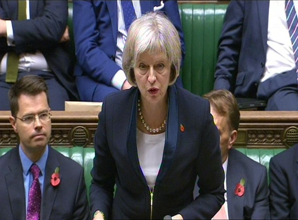 Theresa May sets out the draft Investigatory Powers Bill in the House of Commons