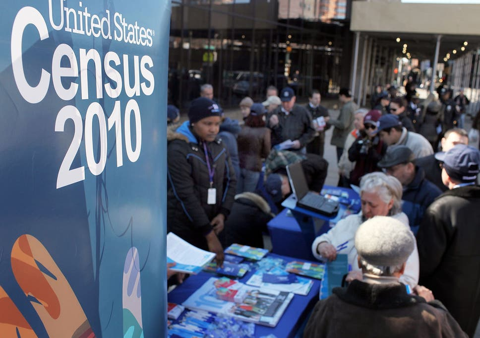 Three charts show every term the Census has used to describe
