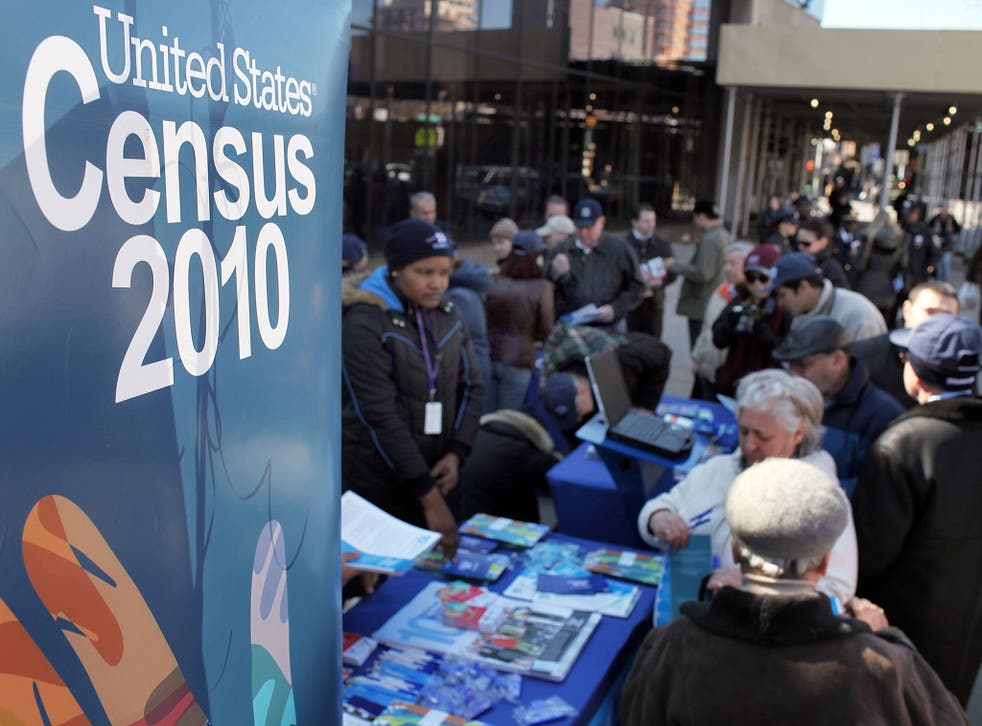 The US census is held every ten years, with 2010 the last year it was collated