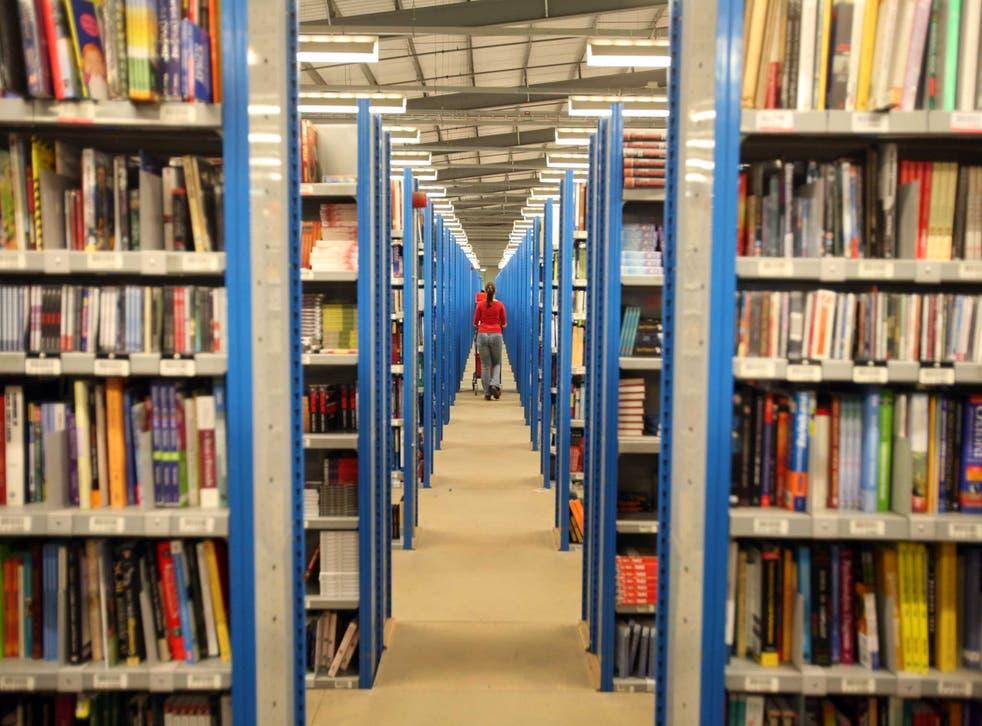 Amazon's book depot in Milton Keynes