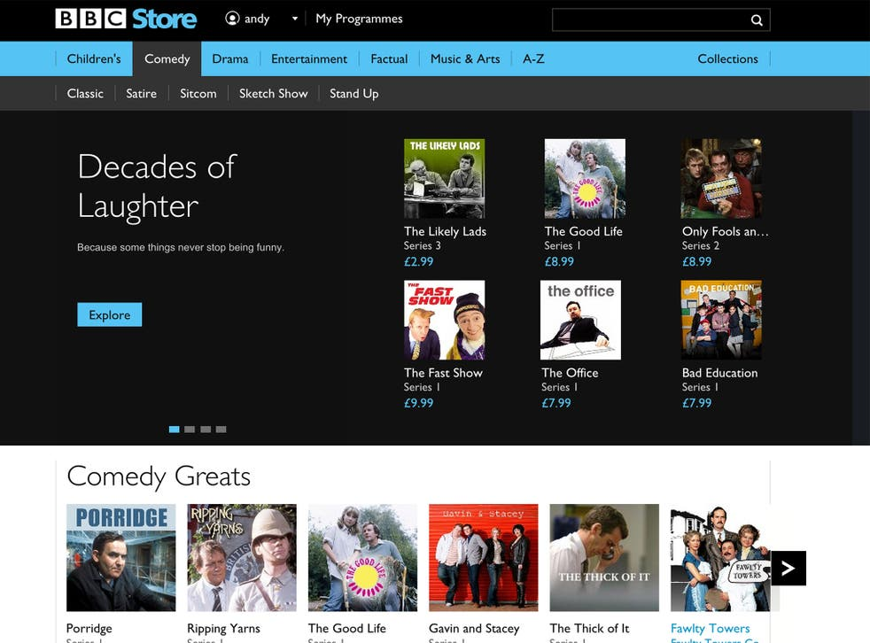 The BBC Store interface doesn't differ greatly from that of its iPlayer