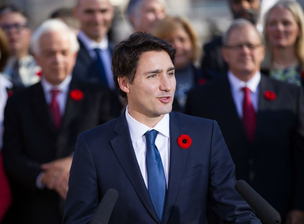 Justin Trudeau's Liberal party was elected to office in November