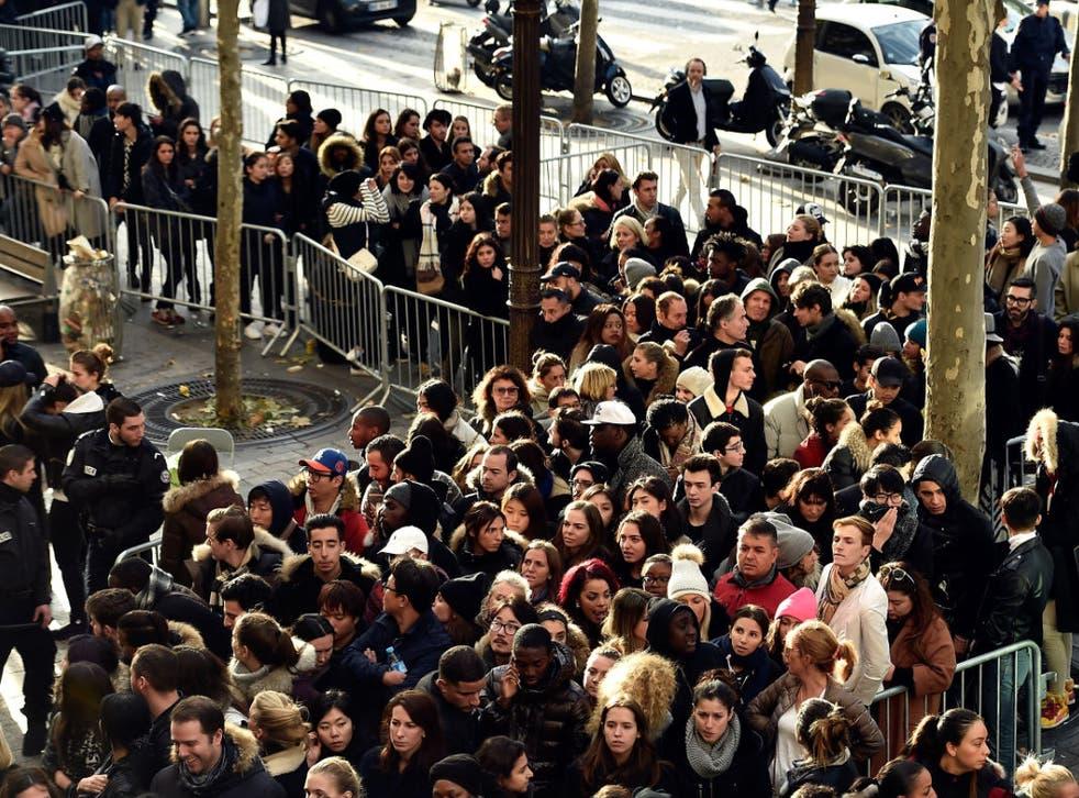 Balmain X H&M Collection Launch at H&M Champs Elysees in Paris