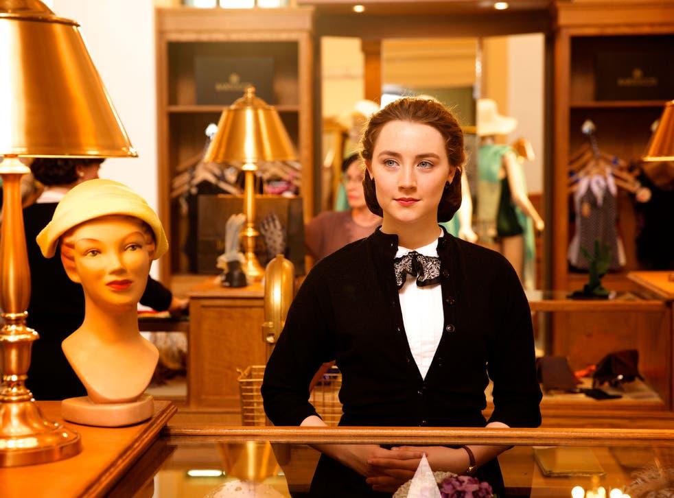 Saoirse Ronan plays an Irish immigrant in 1950s New York in Brooklyn