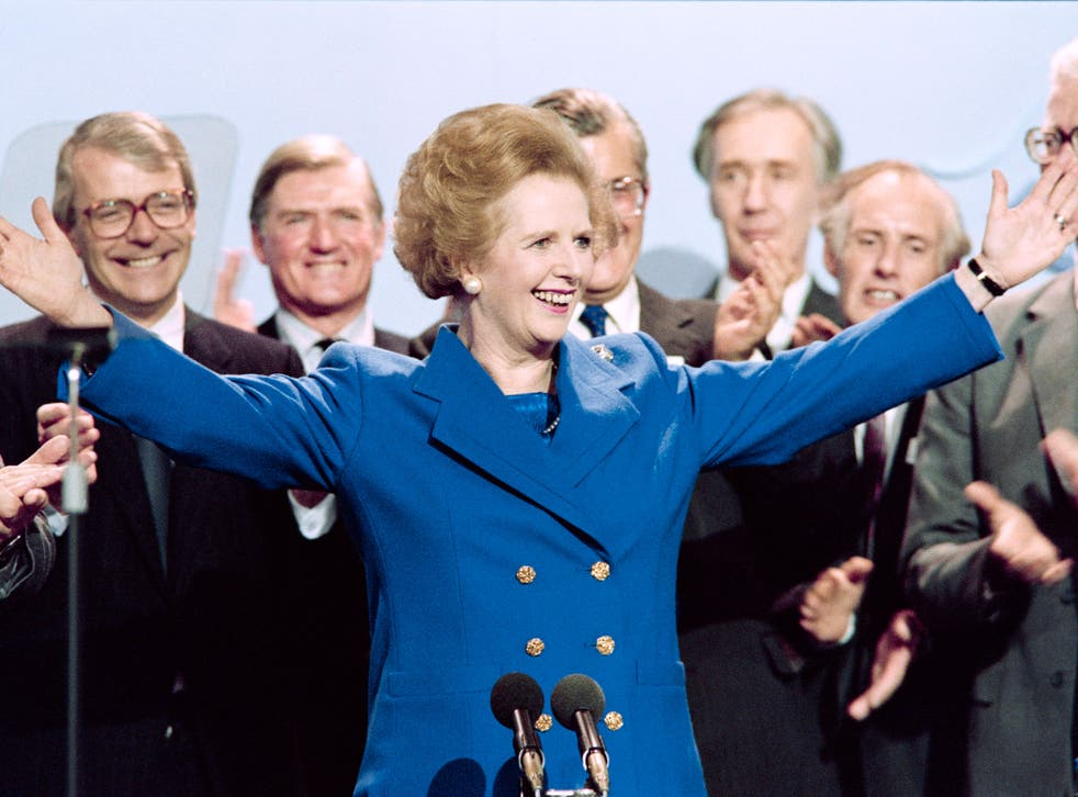 You remember not Thatcher's mid-Eighties power suits but the woman above them
