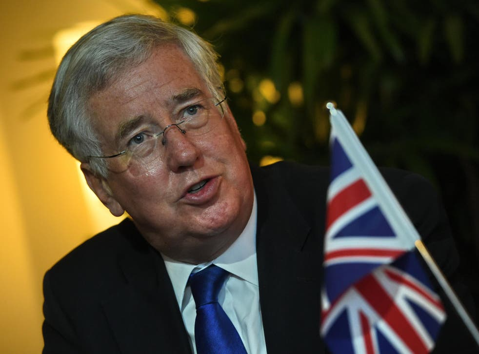 Mr Fallon revealed he will offer a secret briefing to MPs, setting out need to extend air strikes