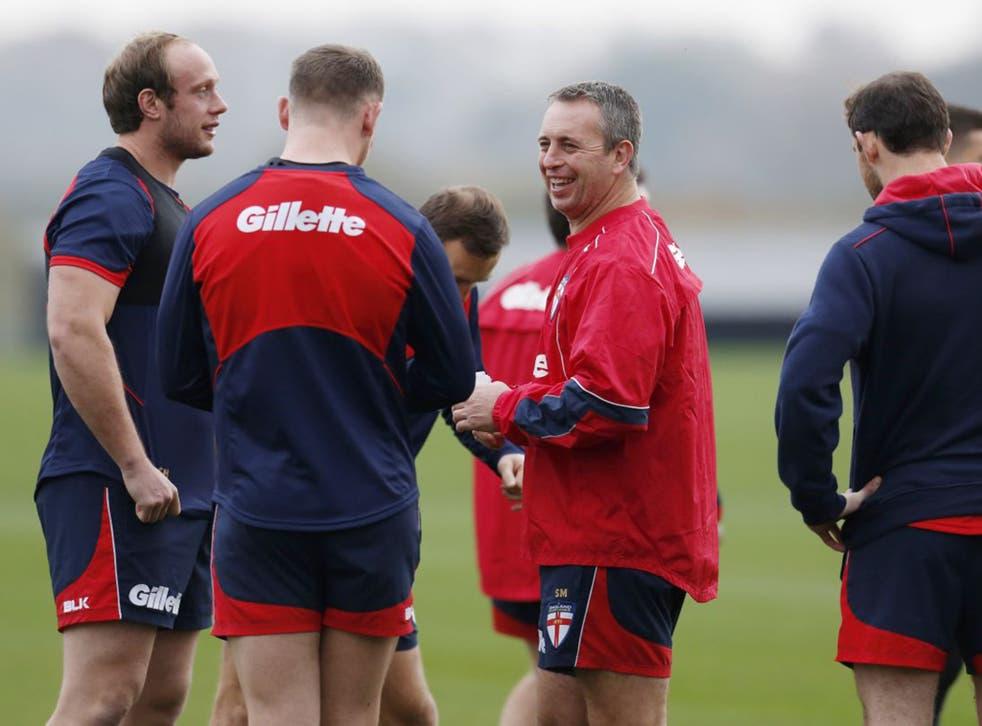 England head coach Steve McNamara (right) is keen to avoid the errors of last weekend