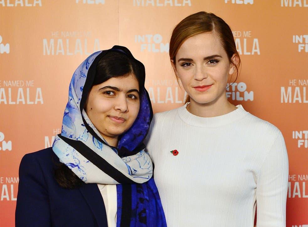 Malala and Emma Watson Yousafzai