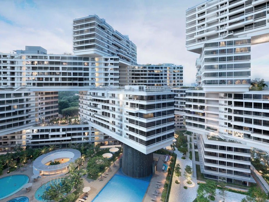 world architecture awards singapores vertical village named building of the year the independent