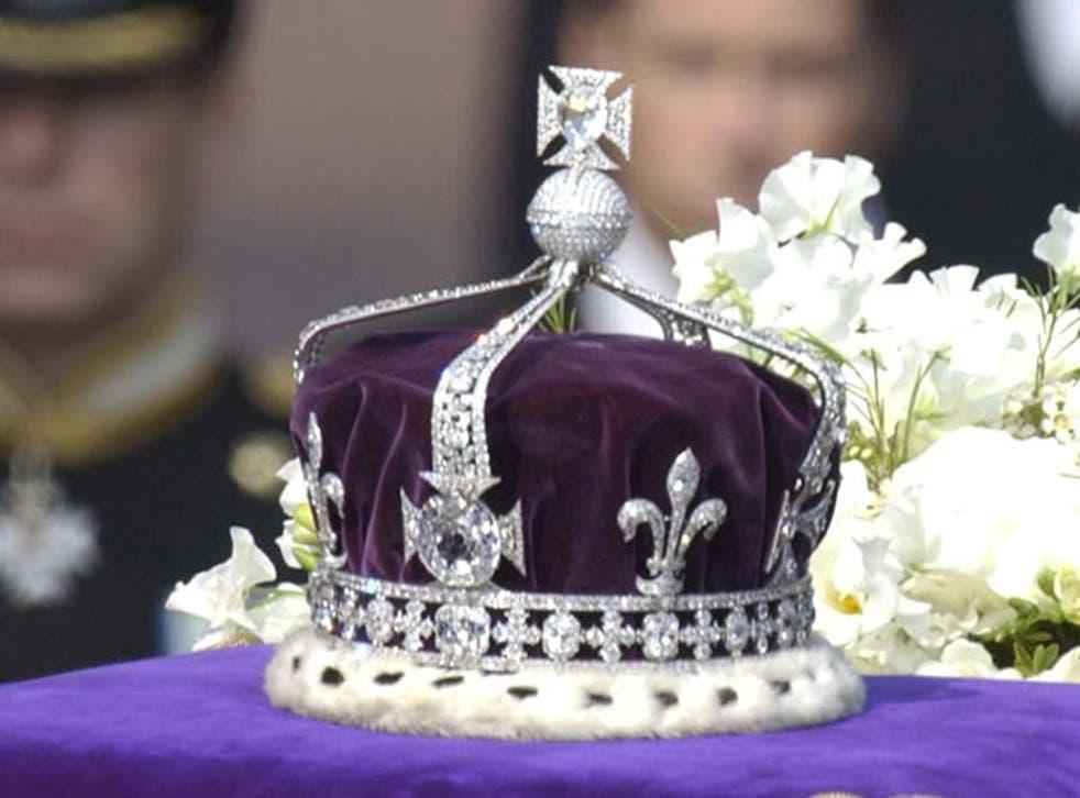 The Koh-i-Noor stone in the Queen Mother's crown