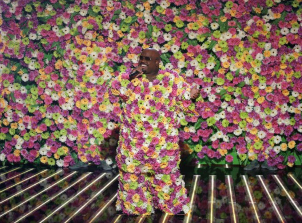 Cee Lo Green performs on The X Factor results show on Sunday night