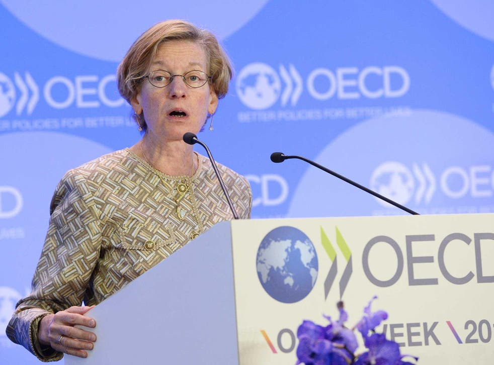 OECD chief economist Catherine Mann: the institution warned the world economy was in a 'low growth trap'