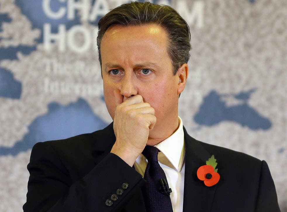 David Cameron delivers his speech on Tuesday
