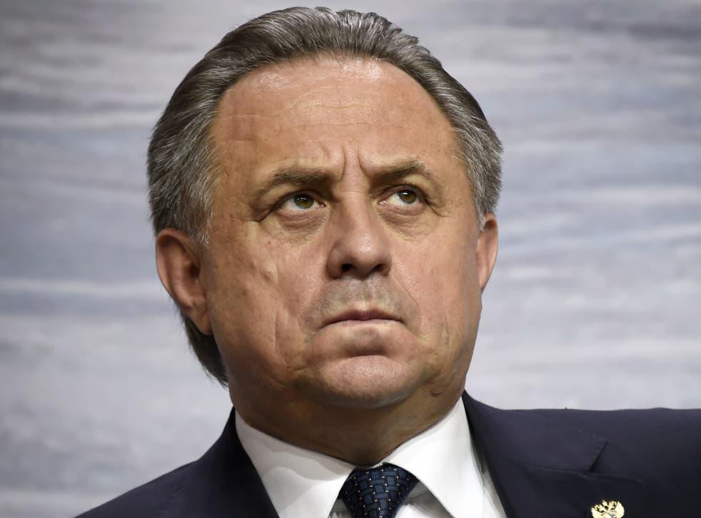Russia's minister of sport Vitaly Mutko