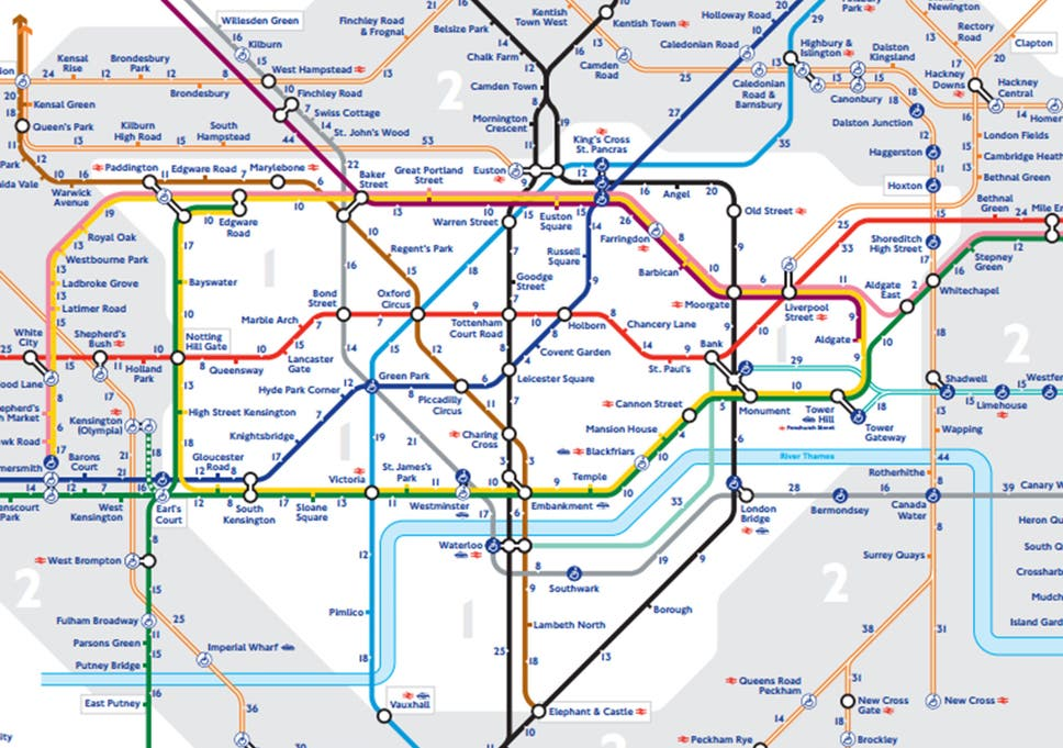 Map To London.Tfl Releases First Official Walk The Tube Map For London The