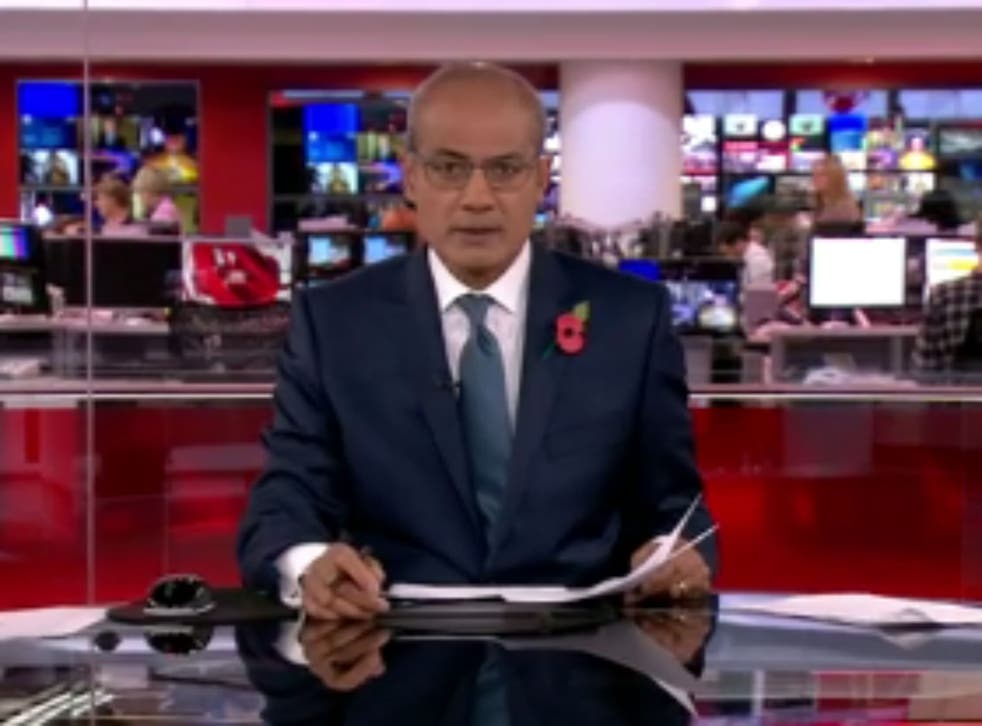 George Alagiah presents the News at Six