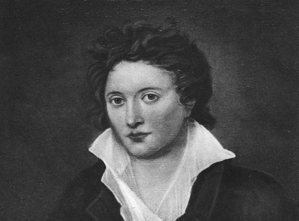 The English poet Percy B Shelley